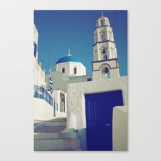 Santorini Churches I Canvas Print