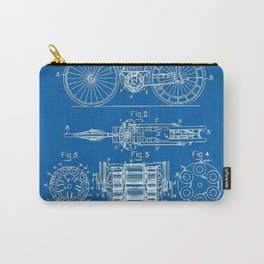 1897 Libbey Electric Bicycle Motorcycle Blueprint Patent Carry-All Pouch