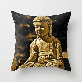 Mr. Peaceful Throw Pillow