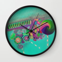 Lollipop & Jelly Beans Wall Clock