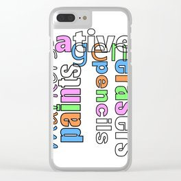 Creative Genius - Font Art Clear iPhone Case