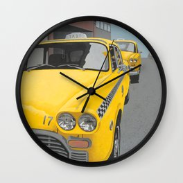 Taxi Stand Wall Clock