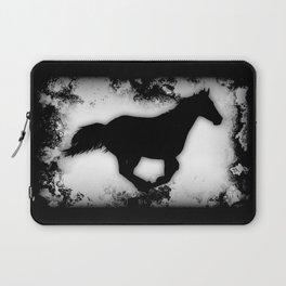 Western-look Galloping Horse Silhouette Laptop Sleeve
