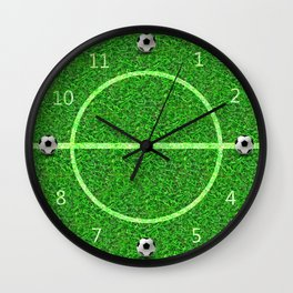 Soccer Football Field - Round Wall Clock Wall Clock