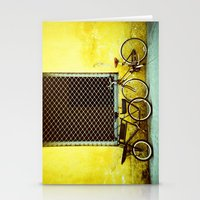 bicycles Stationery Cards featuring Bicycles by The Dalai Lomo