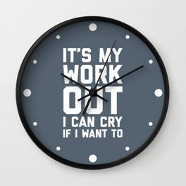 It's My Workout Funny Gym Quote Wall Clock