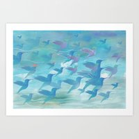 wings Art Prints featuring Wings by sandesign