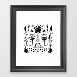 Abundance in Black Framed Art Print
