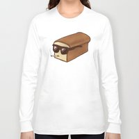 bread Long Sleeve T-shirts featuring Cool Bread by Josh LaFayette