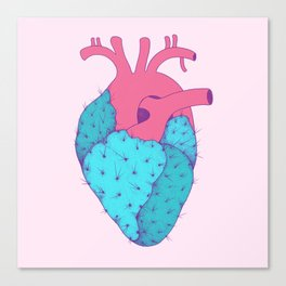 Cactus Heart Canvas Print