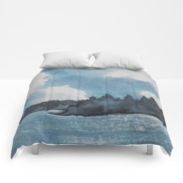 Moonlit Lake Comforters