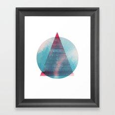Where U & I Belong Framed Art Print