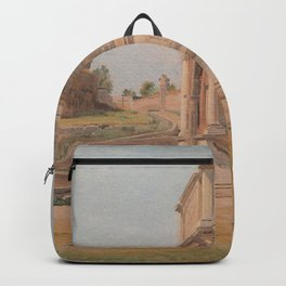Constantin Hansen - The Arch of Titus in Rome Backpack