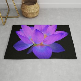 Glowing Water Lily  Rug