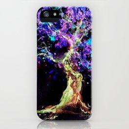 Wild Neon Apple Tree Watercolor by CheyAnne Sexton iPhone Case