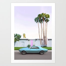 Palm Springs Pink Door Art Print