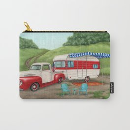 Patriotic Vintage Camper And Truck Carry-All Pouch