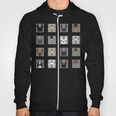 Squared different Frenchies pattern Hoody