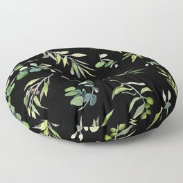 Eucalyptus and Olive Pattern  Floor Pillow