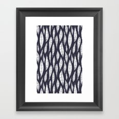 Quail Feathers (Midnight) Framed Art Print