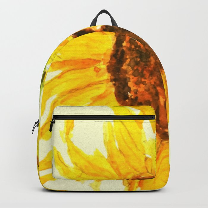 sunflower macro Backpack