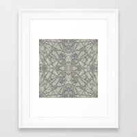 snowflake Framed Art Prints featuring Snowflake  by Project M
