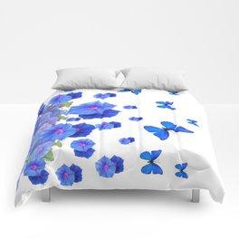 BABY BLUE ART BLUE BUTTERFLIES & MORNING GLORIES Comforters