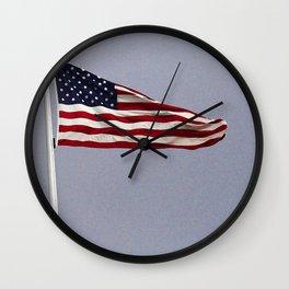 USA Flag Embassy Berlin Germany Wall Clock