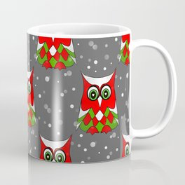 Christmas Snow Owl Pattern Coffee Mug