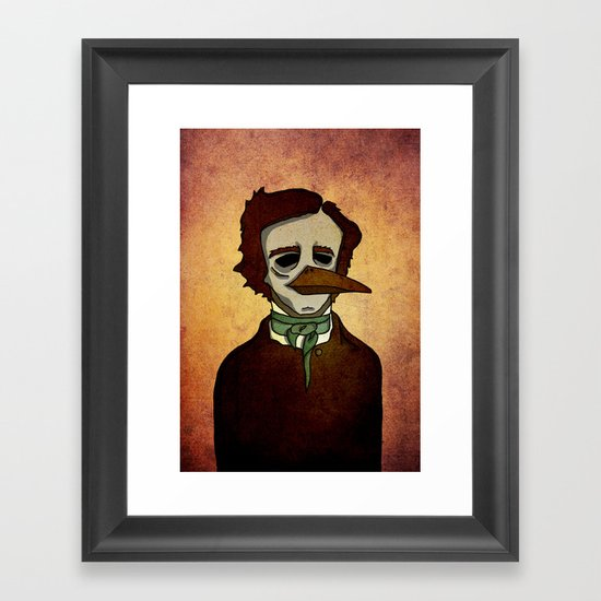 Prophets of Fiction - Edgar Allan Poe /The Raven Framed Art Print