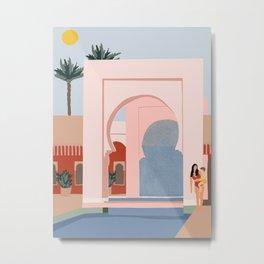 traveling via illustration Metal Print