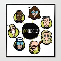 30 rock Canvas Prints featuring 30 Rock by Miguel Roselló
