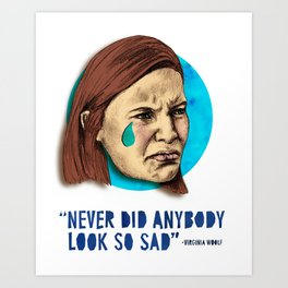 Ugly Cry: Claire Danes Edition Art Print