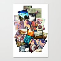 instagram Canvas Prints featuring Instagram  by Nic Moore