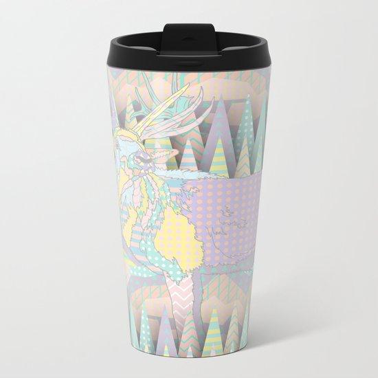 Deer Forest Metal Travel Mug