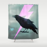 iceland Shower Curtains featuring Iceland x Raven  by factoryandgrass