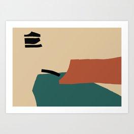 Emerald&Orange Composition Art Print