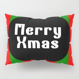 merry Xmas funny logo pattern Pillow Sham