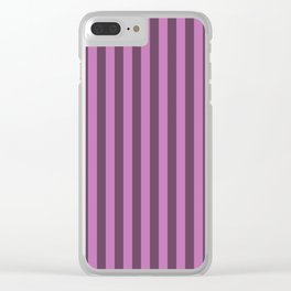 Orchid Purple Stripes Pattern Clear iPhone Case