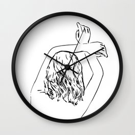 Oblivious #drawing #illustration Wall Clock