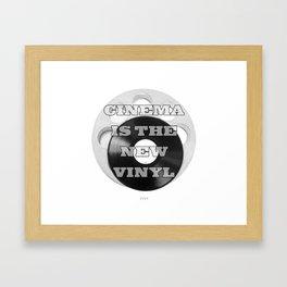 Cinema is the new Vinyl Framed Art Print