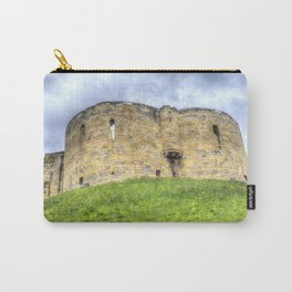 York Castle And Daffodils Carry-All Pouch