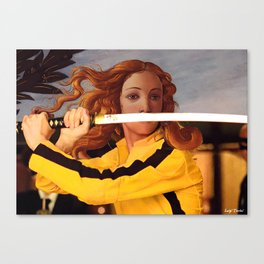Botticelli's Venus & Beatrix Kiddo in Kill Bill Canvas Print