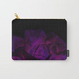 Ultra Violet Velvet Rose loves Black Carry-All Pouch