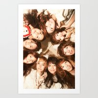 snsd Art Prints featuring Together Forever by cuteunni