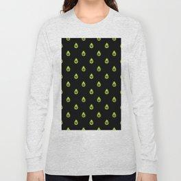 Avocado Hearts (black background) Long Sleeve T-shirt