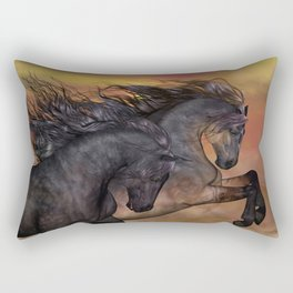 HORSES - On sugar mountain Rectangular Pillow