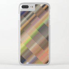 Long road. Abstract gradient art geometric background with soft color tone, cell grid. Ideal for art Clear iPhone Case