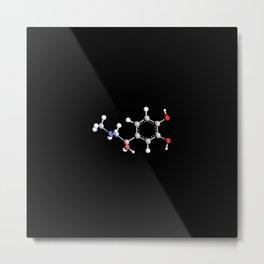 Adrenaline Molecule Metal Print