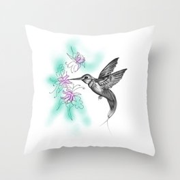 Purple November Throw Pillow
